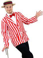 Men's Red & White Striped Blazer