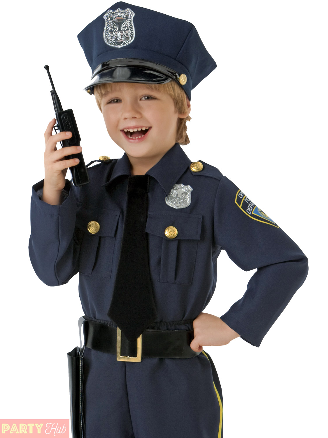 Boys police officer costume childrens cop fancy dress kids uniform book week day ebay - Police officer child costume ...