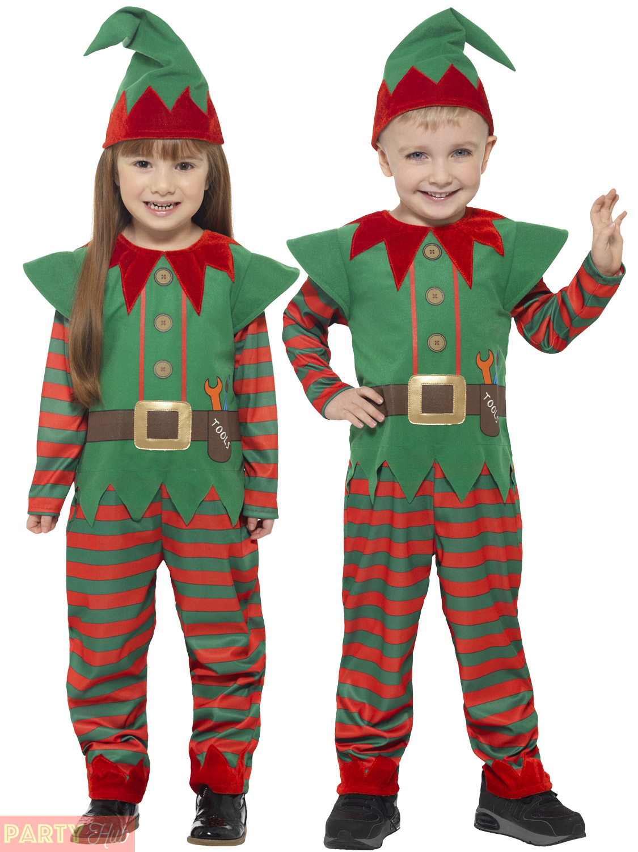 Toddler Elf Costume Child Santas Helper Fancy Dress Girls Boys ...