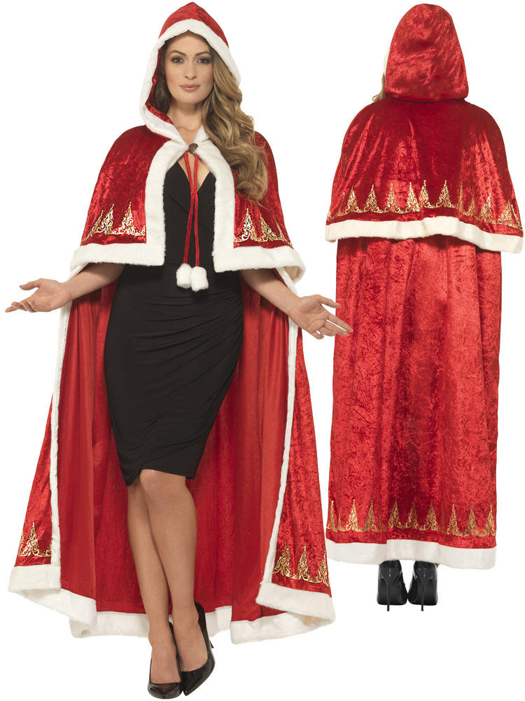 Ladies Deluxe Miss Claus Cape