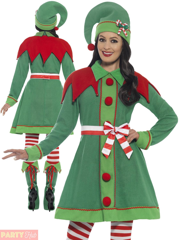 Ladies deluxe miss elf costume adults santas helper