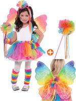 Rainbow Fairy Tutu, Wings & Wand