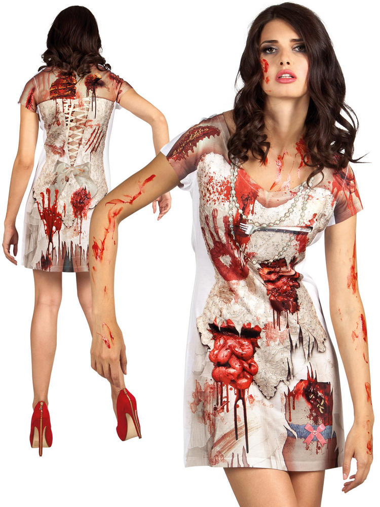 Ladies Zombie Bride Costume