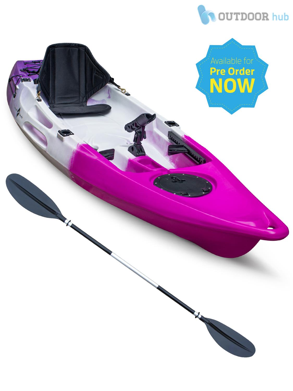 10ft Sit On Top Kayak Single Fishing Canoe Rod Holders ...