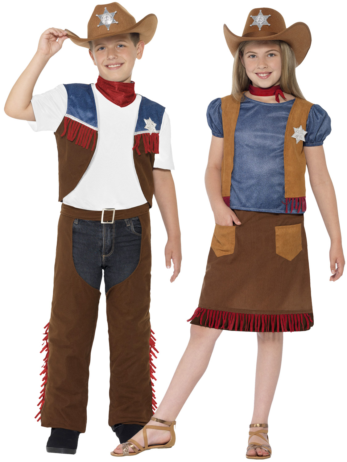 Childrens Cowboy Costume Boys Girls Western Texas Cowgirl Fancy Dress Kids Outfi | eBay