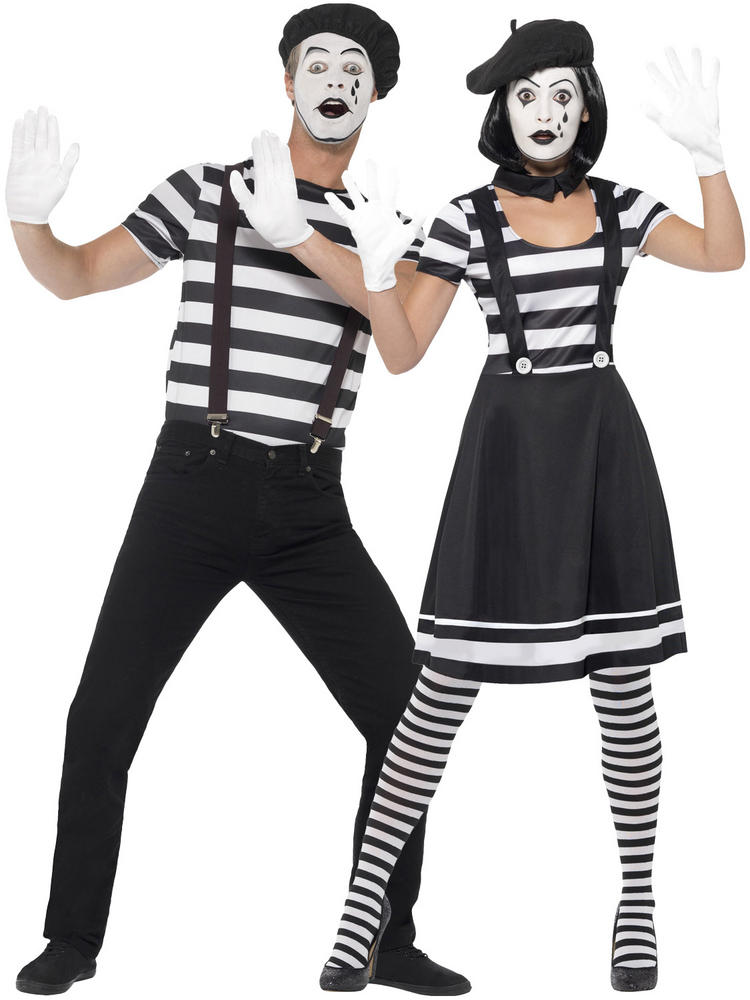 Adults Mime Artist Costume