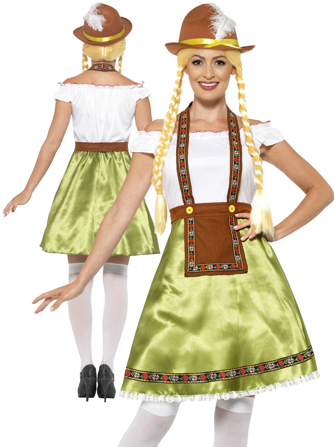 ladies bavarian maid costume adults oktoberfest fancy dress beer festival outfit ebay. Black Bedroom Furniture Sets. Home Design Ideas
