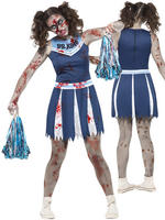 Girl's Teen Zombie Cheerleader Costume