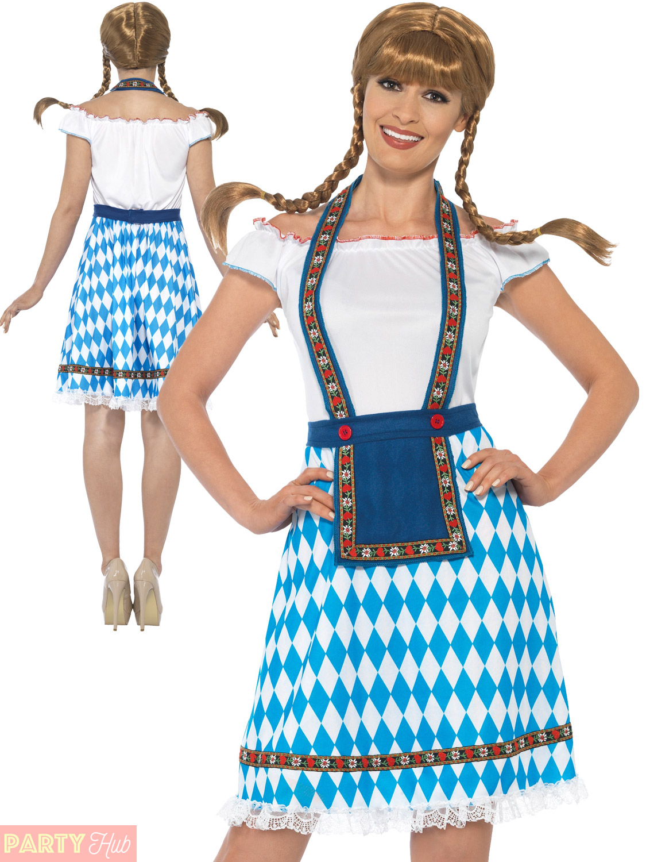ladies oktoberfest costume womens german bavarian fancy. Black Bedroom Furniture Sets. Home Design Ideas