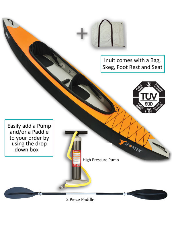 Image Is Loading Sit In Inflatable Kayak 2 Person Tandem Double