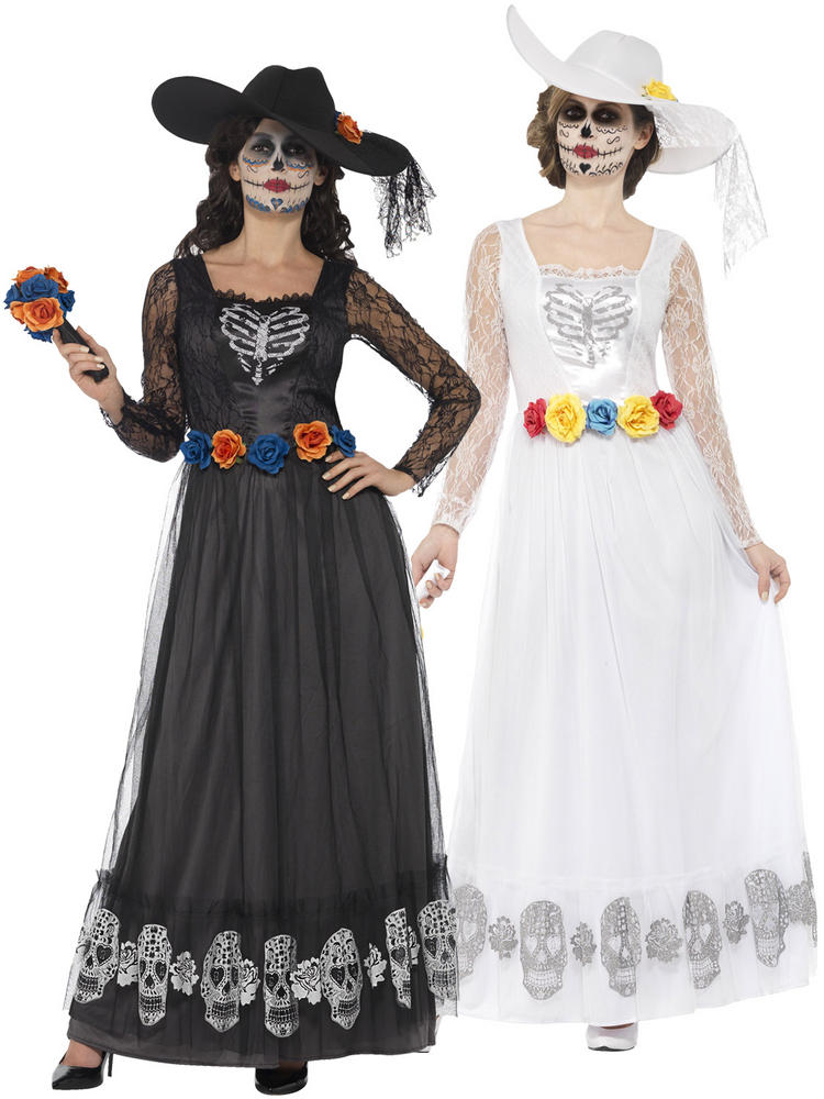 Ladies Day of the Dead Skeleton Bride Costume
