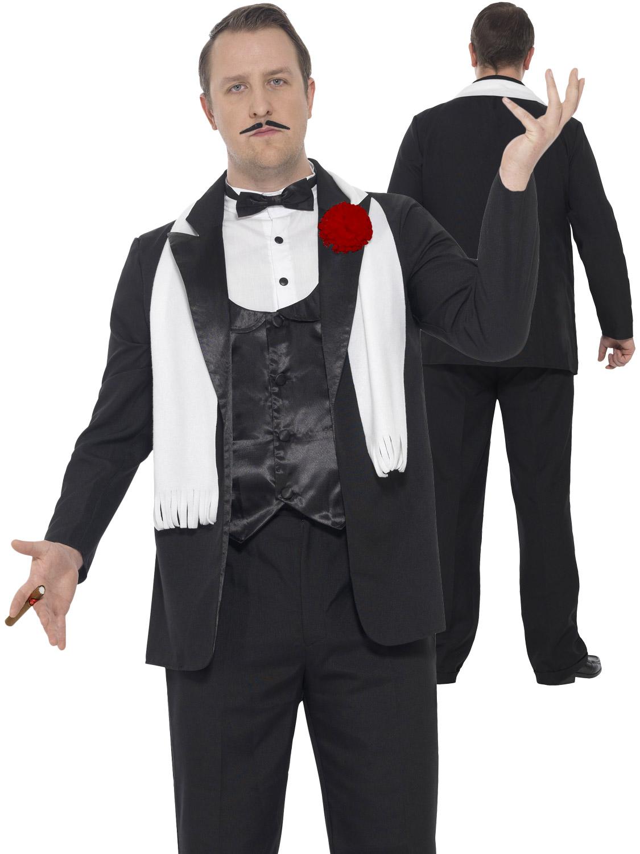 Mens Gangster Suit Costume Godfather Adult 1920s Mafia