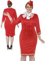 Ladies Curves Air Hostess Costume