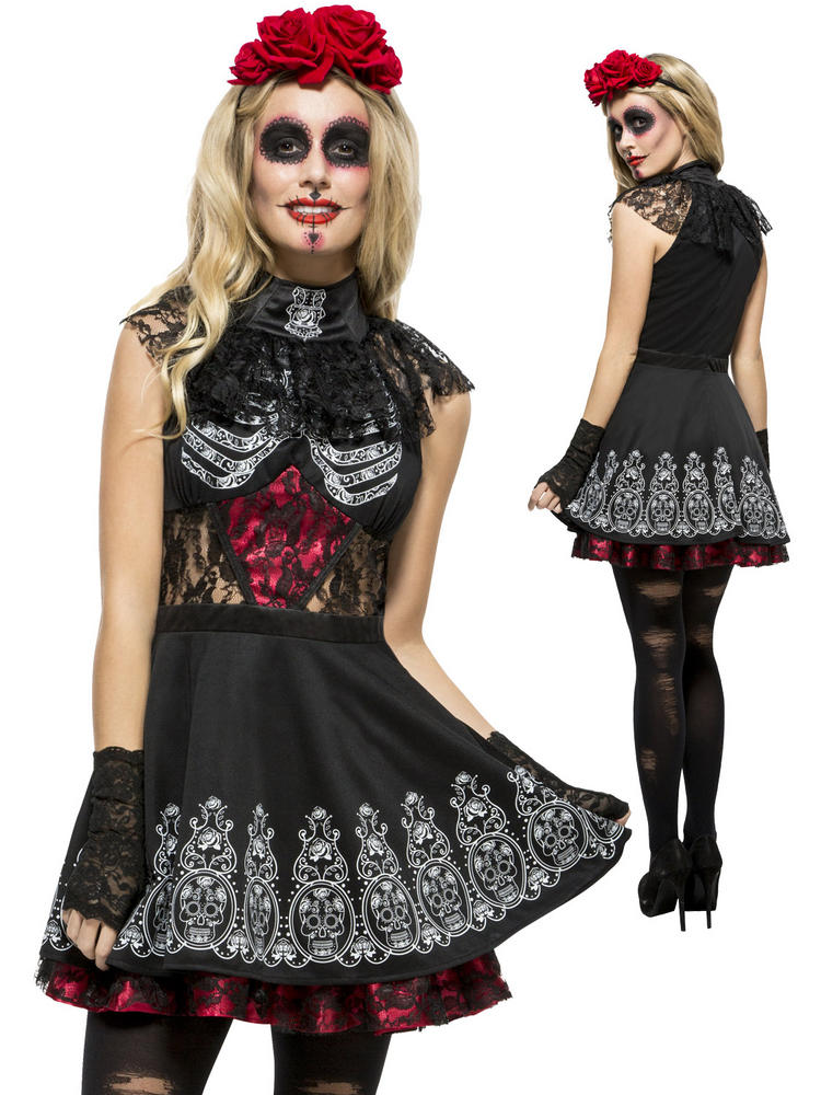Ladies Fever Day of the Dead Costume