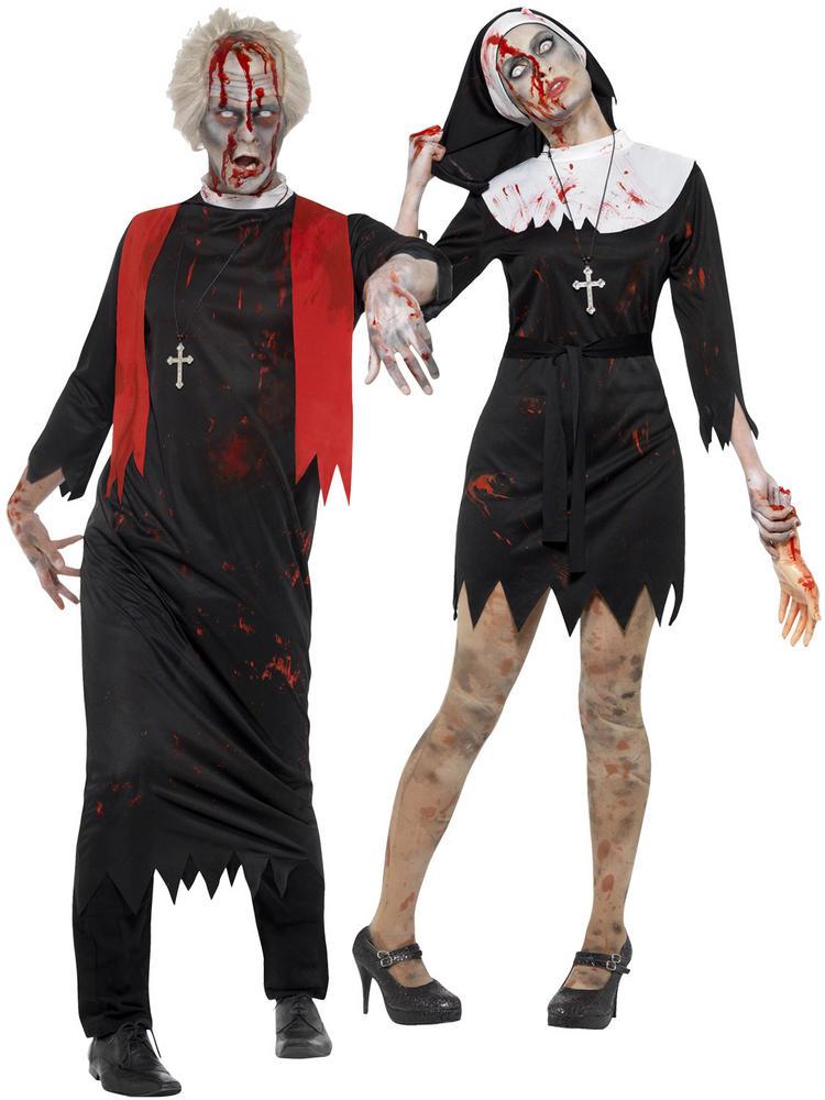 Men's Zombie High Priest Costume - Ladies Zombie Sister Costume