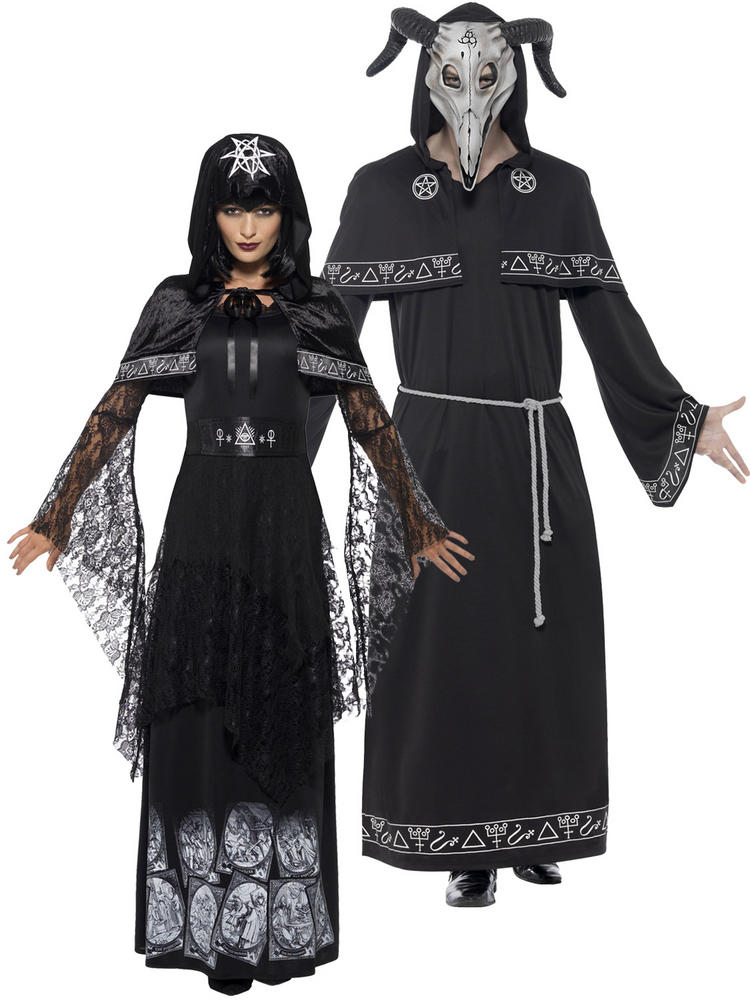 Adults Black Magic Cult Costume