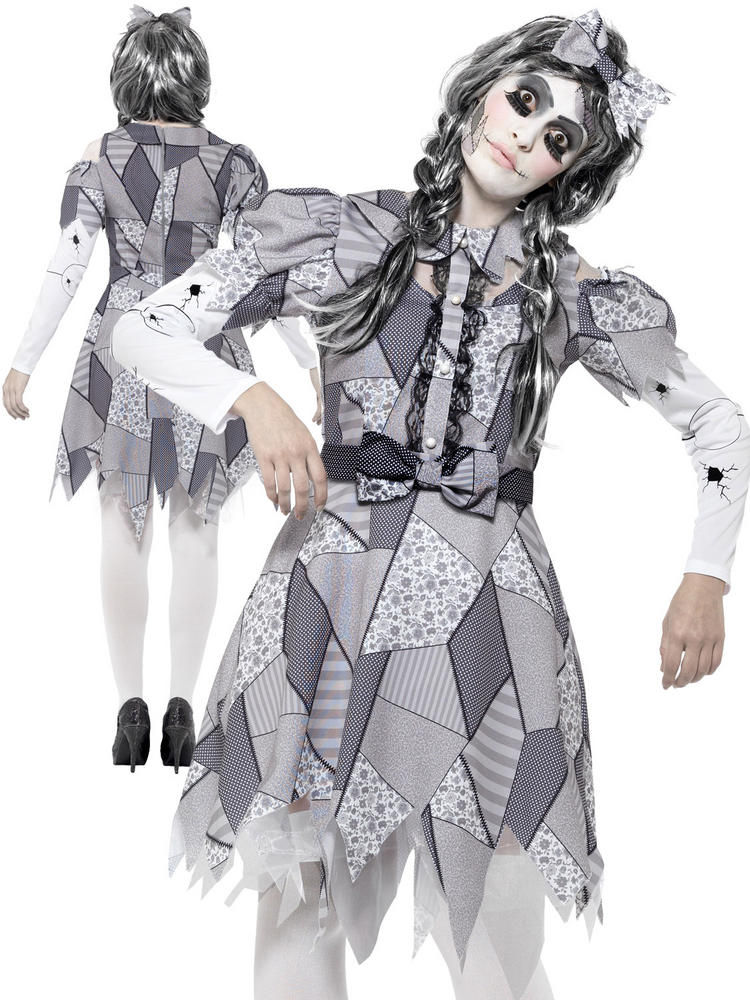 Ladies Damaged Doll Costume