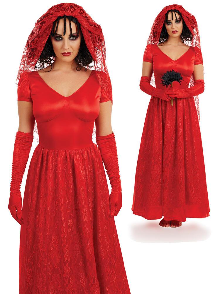 Ladies Blood Red Bride Costume