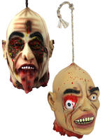 Hanging Hooked Life Size Head Zombie Halloween Fancy Dress Party Decoration Prop