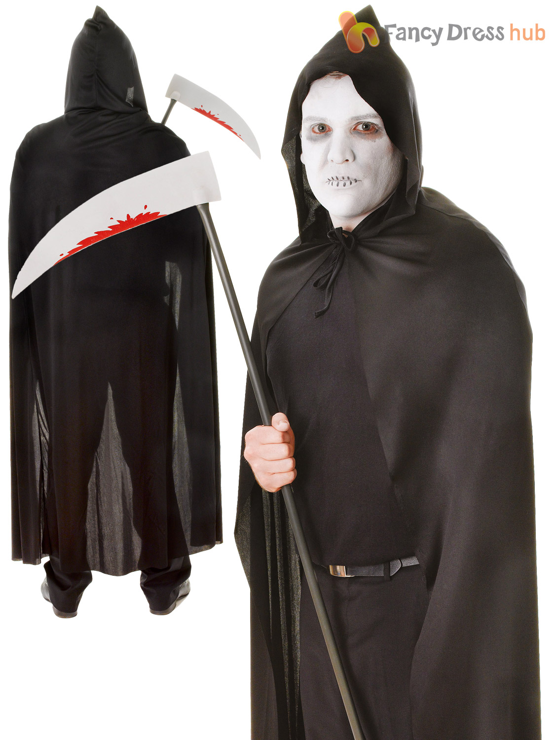 Adults-Hooded-Cape-Black-Red-Halloween-Red-Riding-Hood-Fancy-Dress-Accessory