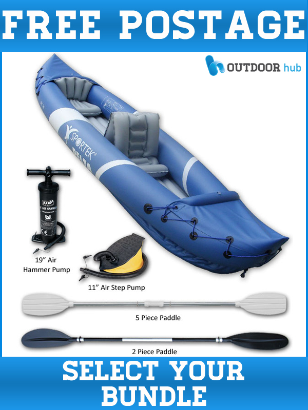 SPORTEK-DELTA-INFLATABLE-TANDEM-KAYAK-2012-MODEL-BLUE-GREY