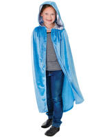 Child's Pale Blue Hooded Cape