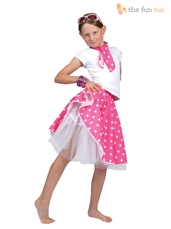 50s Rock N Roll Girls Fancy Dress 1950s Jazz Bopper Kids Childs ...