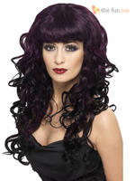 Ladies Plum Long Curly Siren Wig