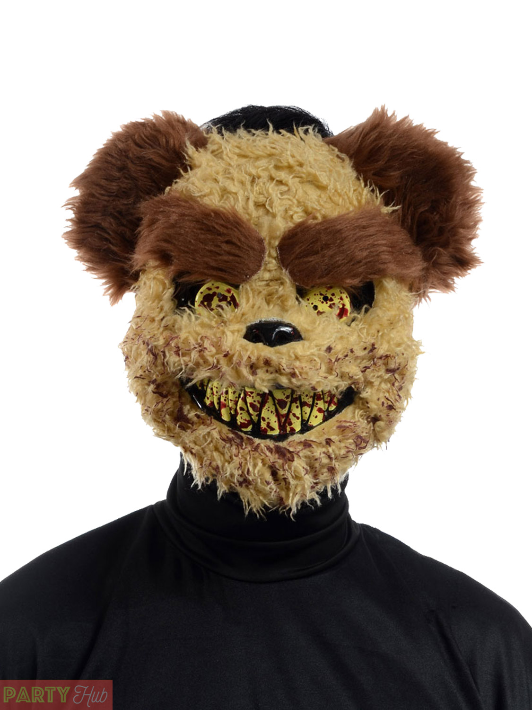 Adult Halloween Mask Mens Killer Teddy Bear Zombie Rabbit Fancy ...