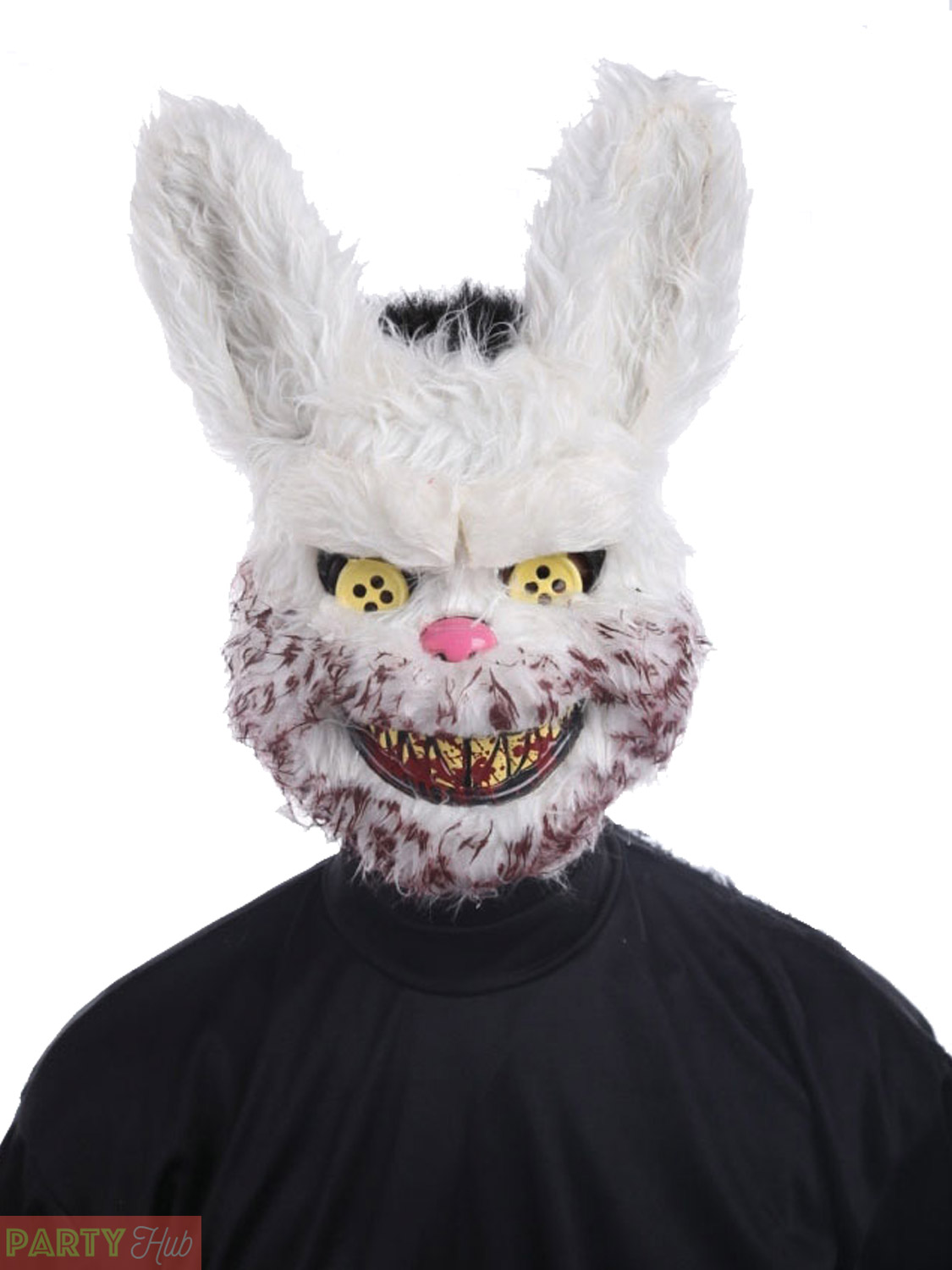 Adult Halloween Mask Mens Killer Teddy Bear Zombie Rabbit Fancy ...