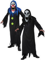Men's Clown Elongated Face Costume