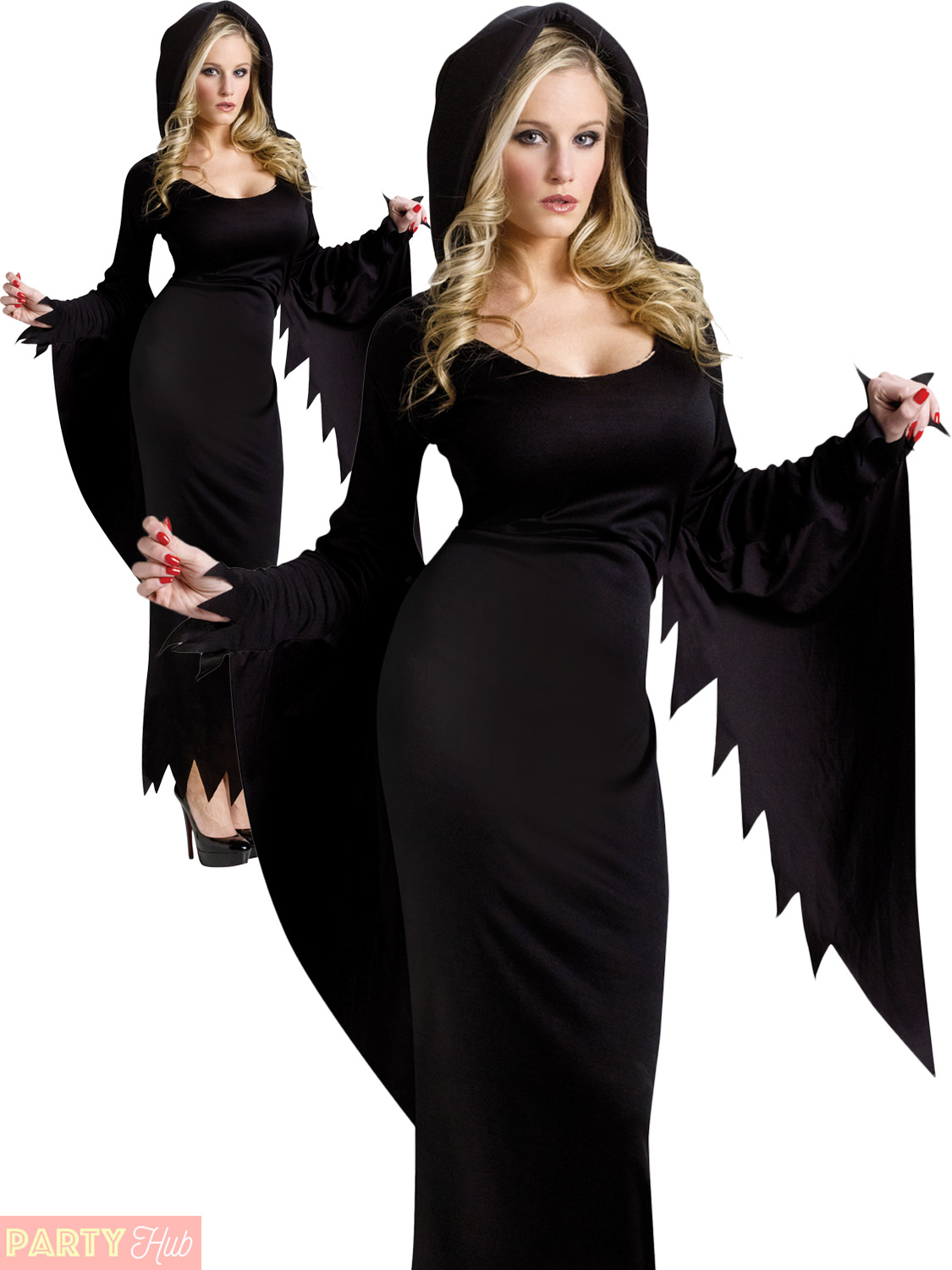 Ladies Vampire Witch Costume Adults Halloween Fancy Dress Womans ...