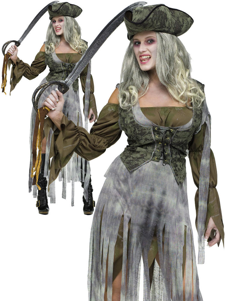 Ladies Zombie Pirate Costume