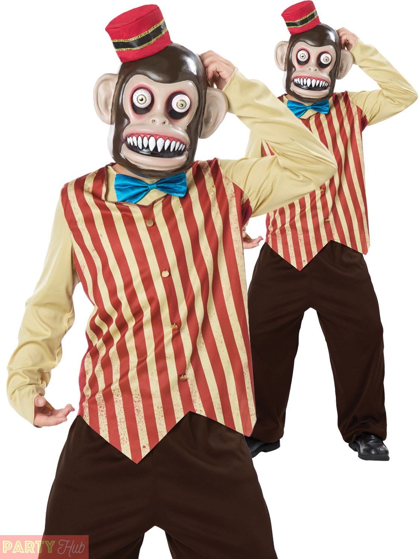 Children Evil Circus Monkey Costume Boys Halloween Fancy Dress + ...