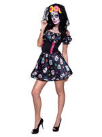 Ladies Mrs Day of the Dead Costume