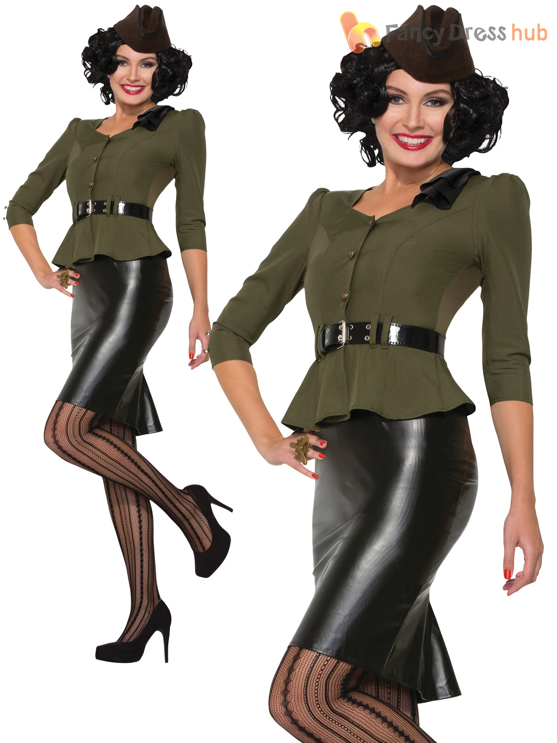 Ladies-Missile-Millie-Costume-1940s-WWII-Army-Pin-  sc 1 st  eBay : army pin up costume  - Germanpascual.Com