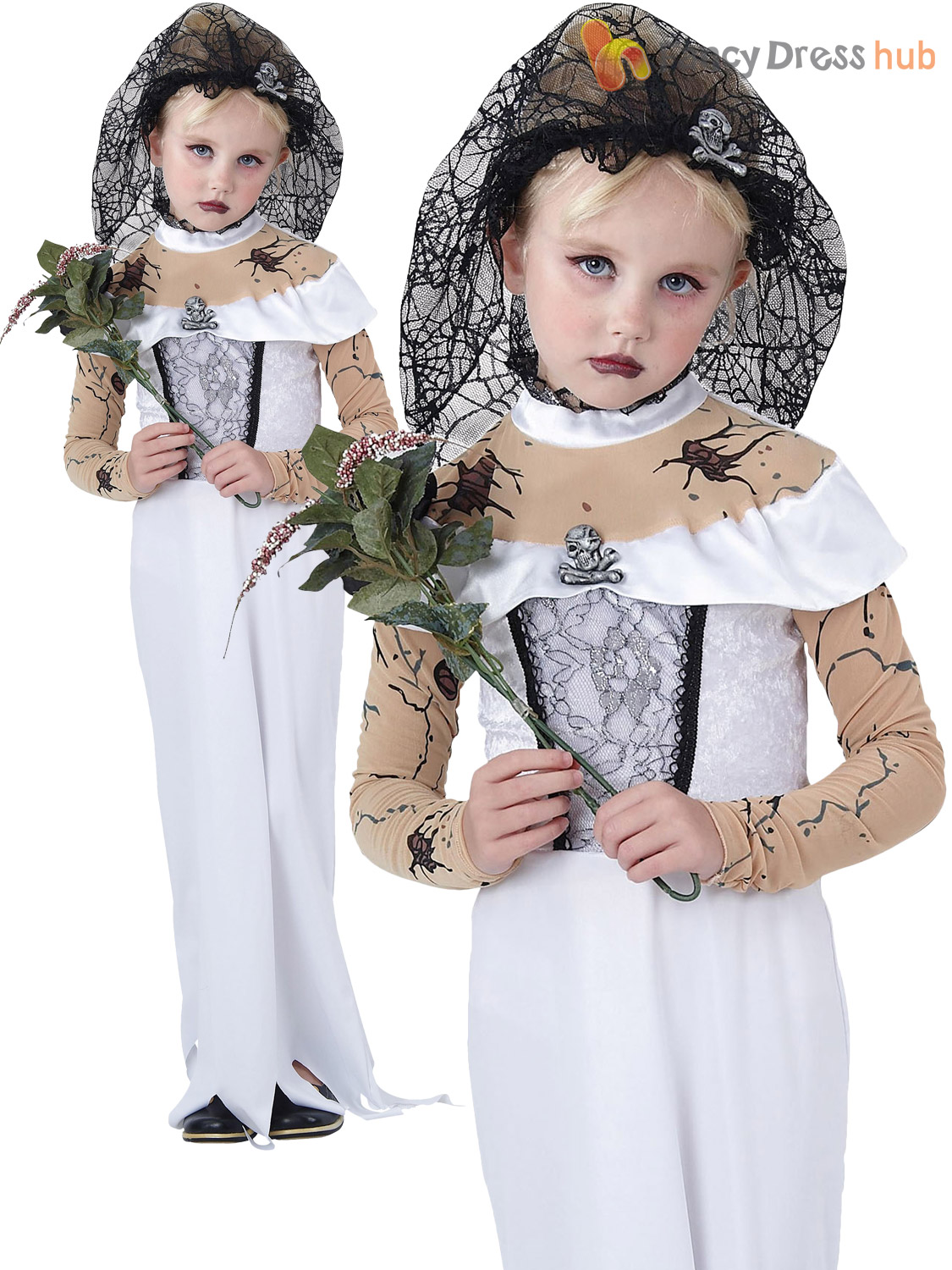 girls ghost zombie corpse bride fancy dress up - Halloween Girl Dress Up