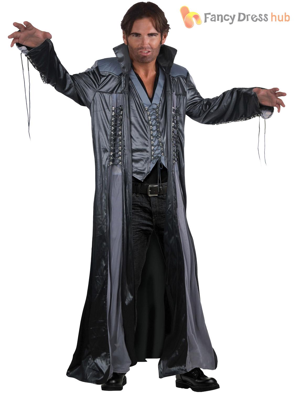 Adult Modern Day Wizard Costume Mens Halloween Warlock Fancy Dress ...