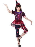 Girl's Halloween Clown Costume
