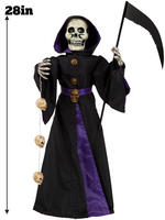 """Animated 28"""" Light Up Reaper Prop with Sound"""