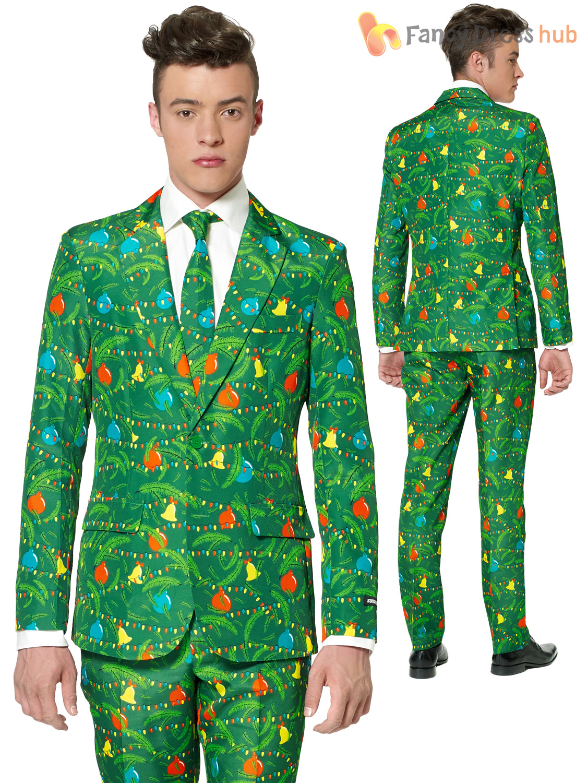 Details about mens christmas tree suitmeister suit xmas party festive