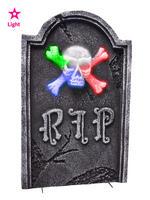 Light Up Bone Cross Tombstone