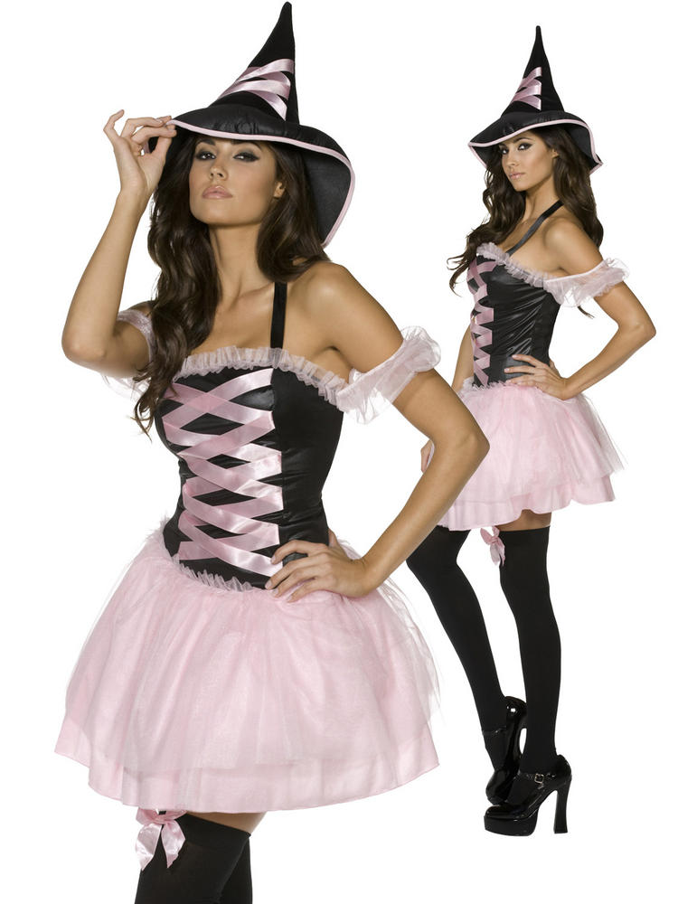 Ladies Fever Pretty Witch - Black & Pink