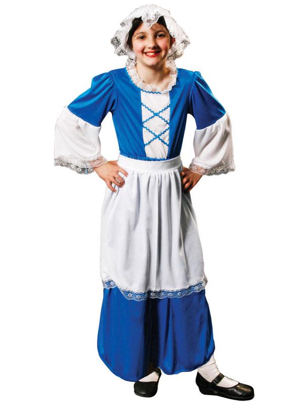 U20085 girls medieval tudor poor servant maid fancy dress childrens,Childrens Clothes In Tudor Times