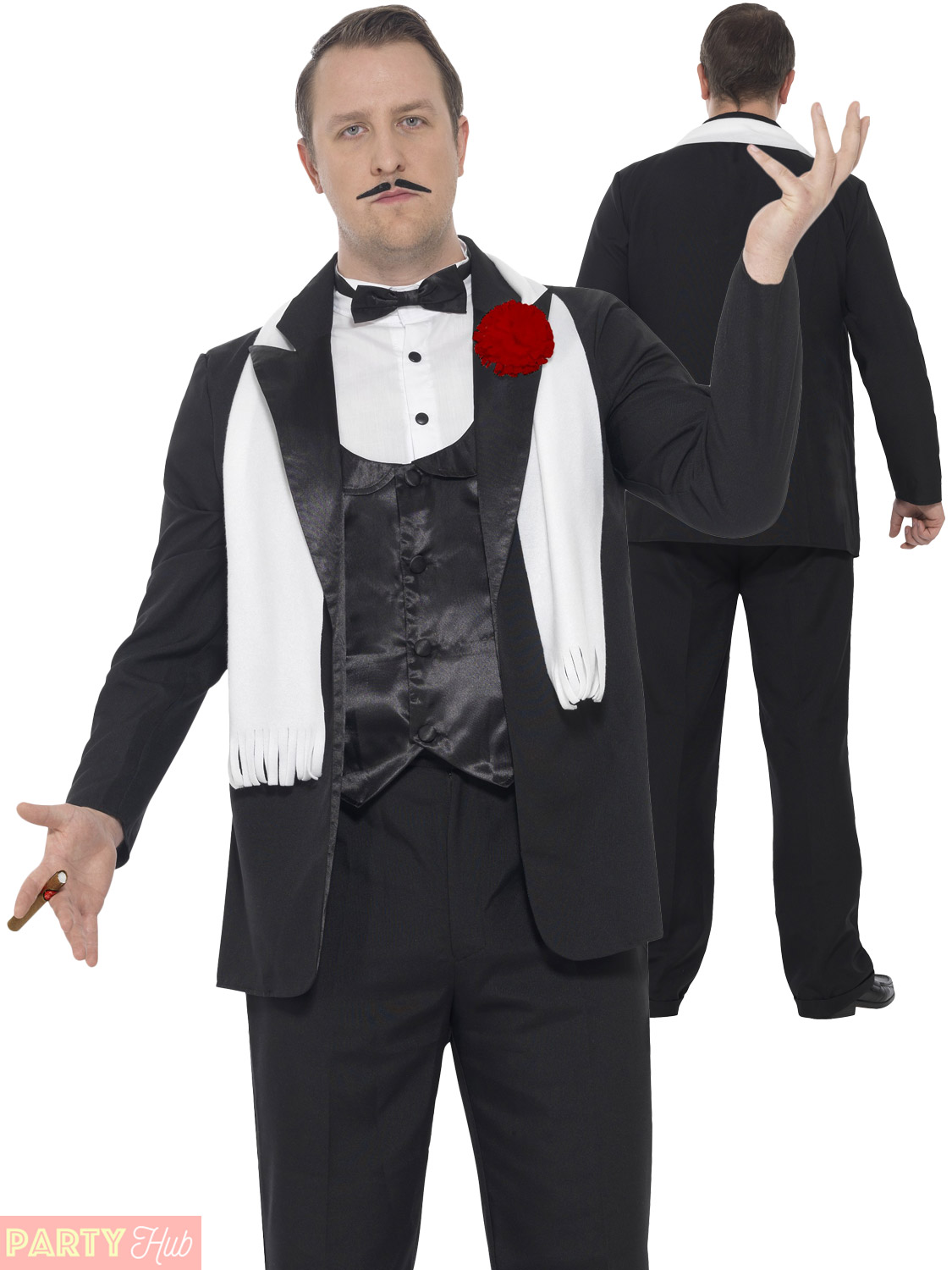 Mens Curves Gangster Costume Adults 1920s Mafia Fancy Dress Plus Size Outfit 20s | eBay