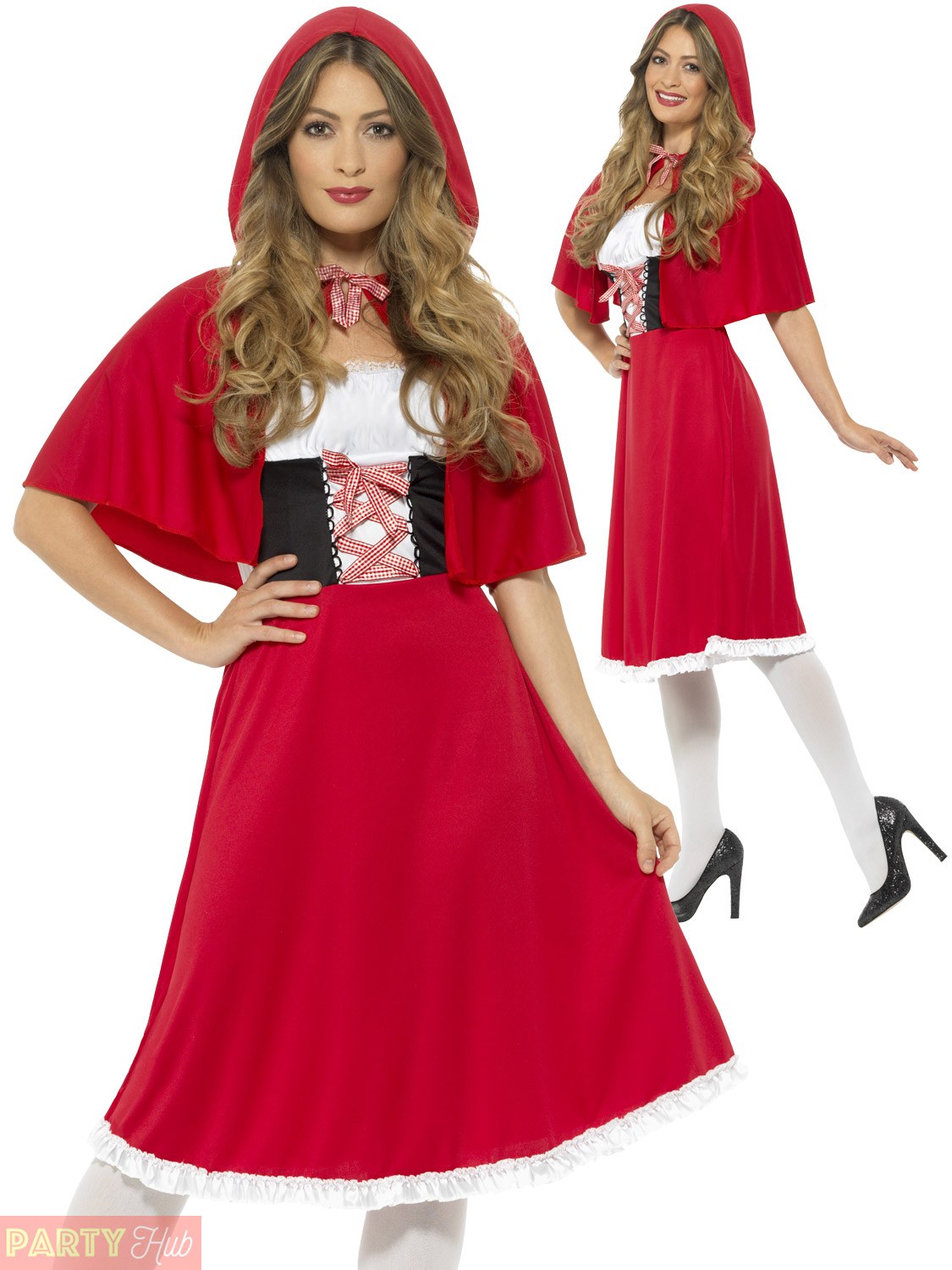 Ladies Red Riding Hood Costume Adults Fairytale Fancy ...