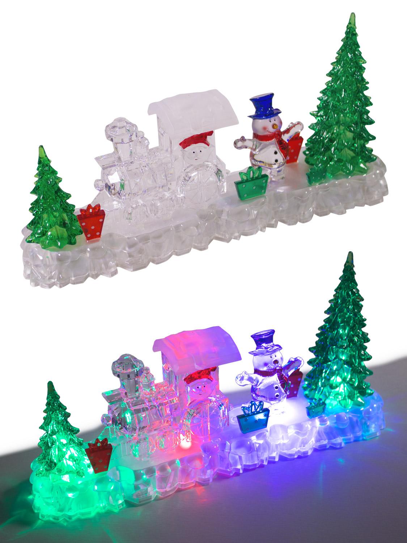 Christmas Light Up Decoration Acrylic Santa Snowman Led