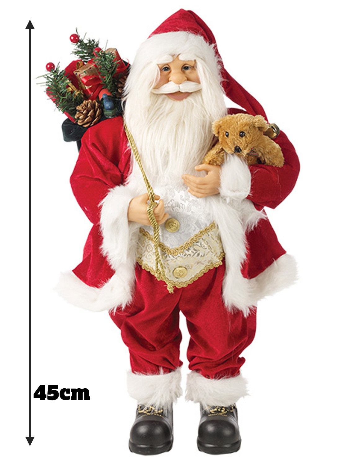 Father-Christmas-Xmas-Standing-Santa-Claus-Decoration-Ornament-Gift-Figure