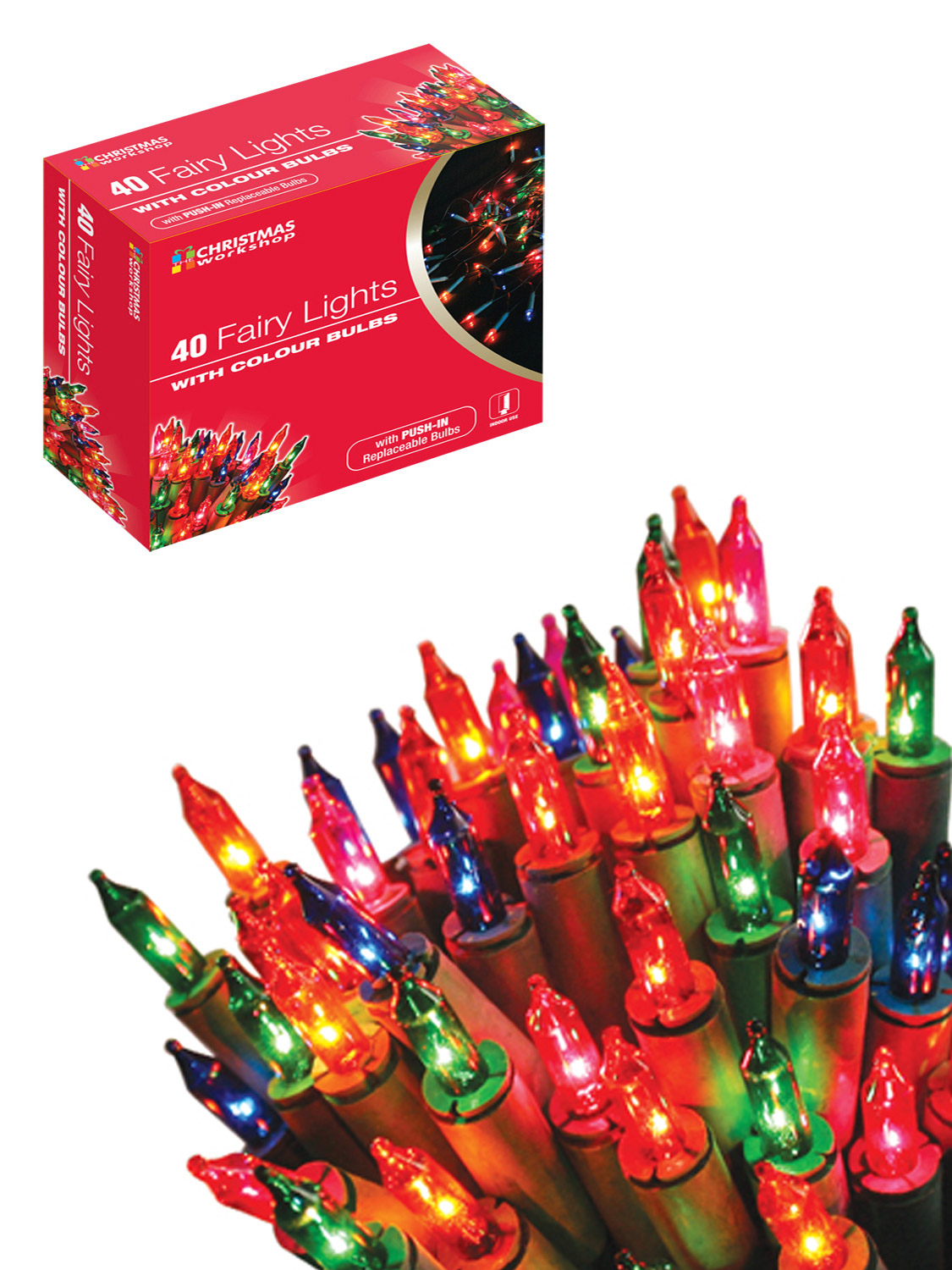 Single String Christmas Lights : Christmas Tree Lights Fairy String Decoration Party Clear Multi-Coloured Indoors eBay