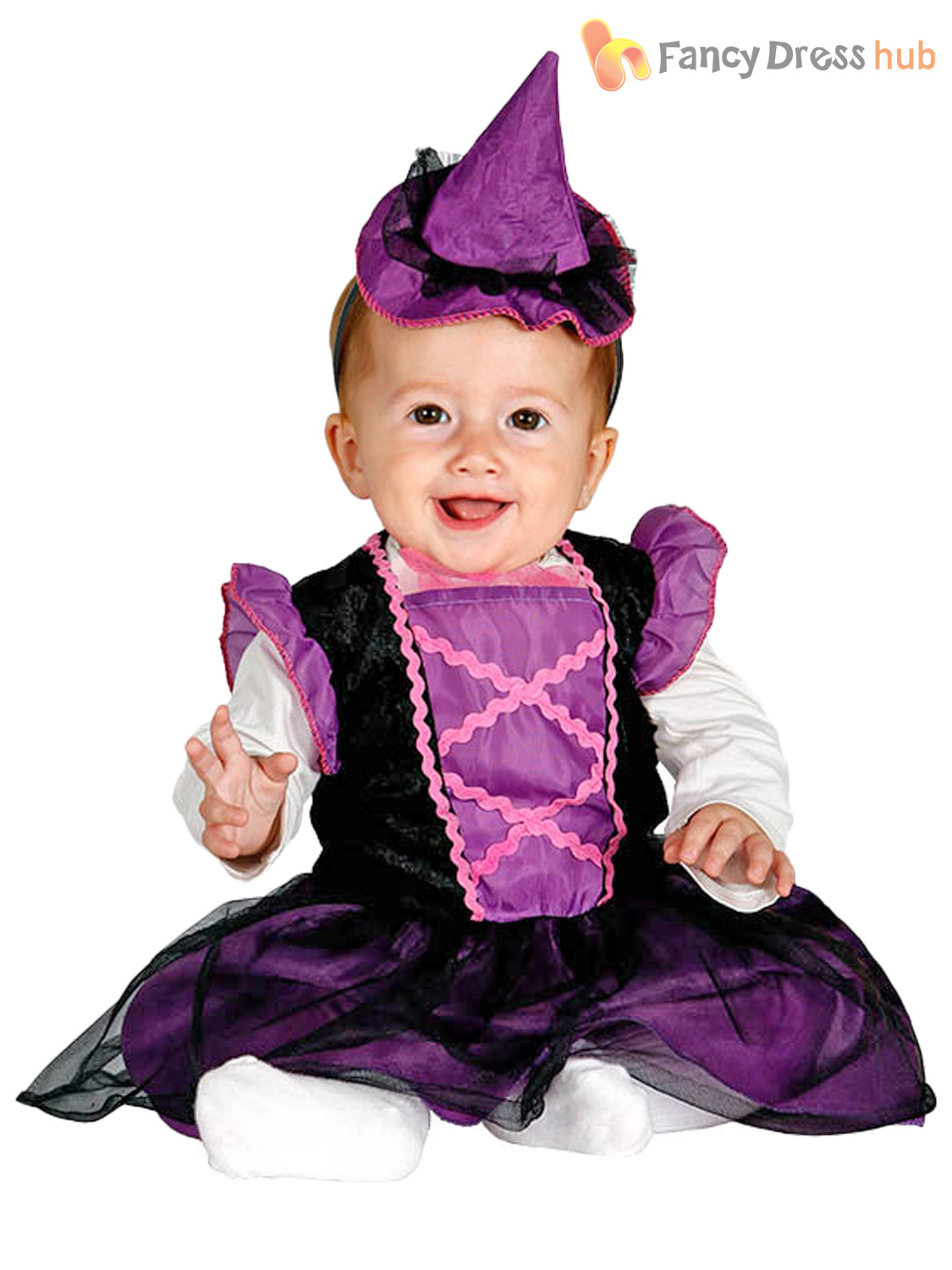 Childs Baby Witch Costume Toddler Halloween Fancy Dress Kids ...